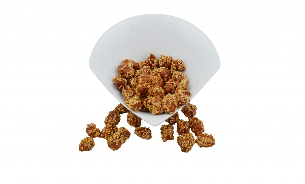 Caramelized Almonds with Sesame
