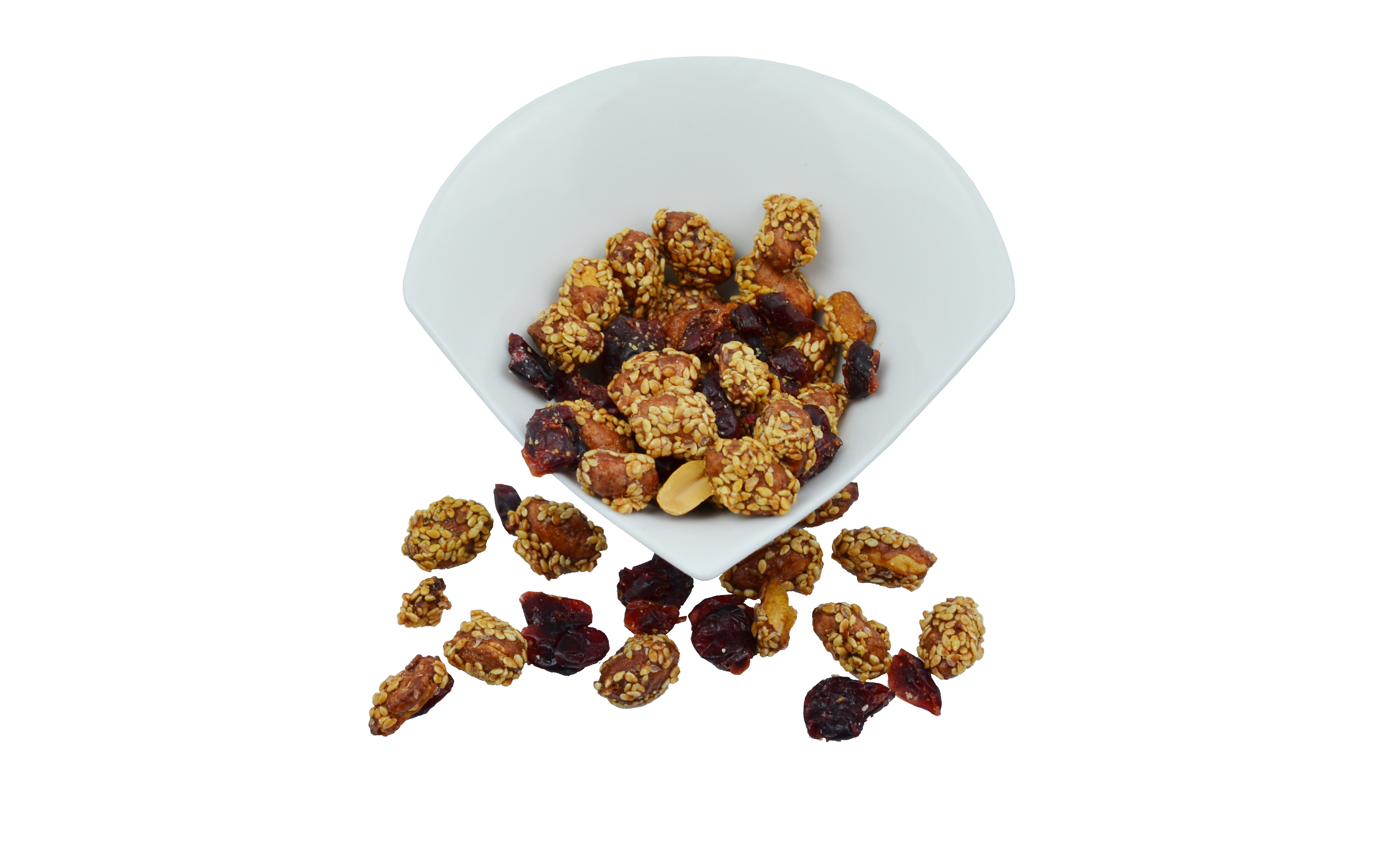 Caramelized Pistachios with Sesame and Cranberries