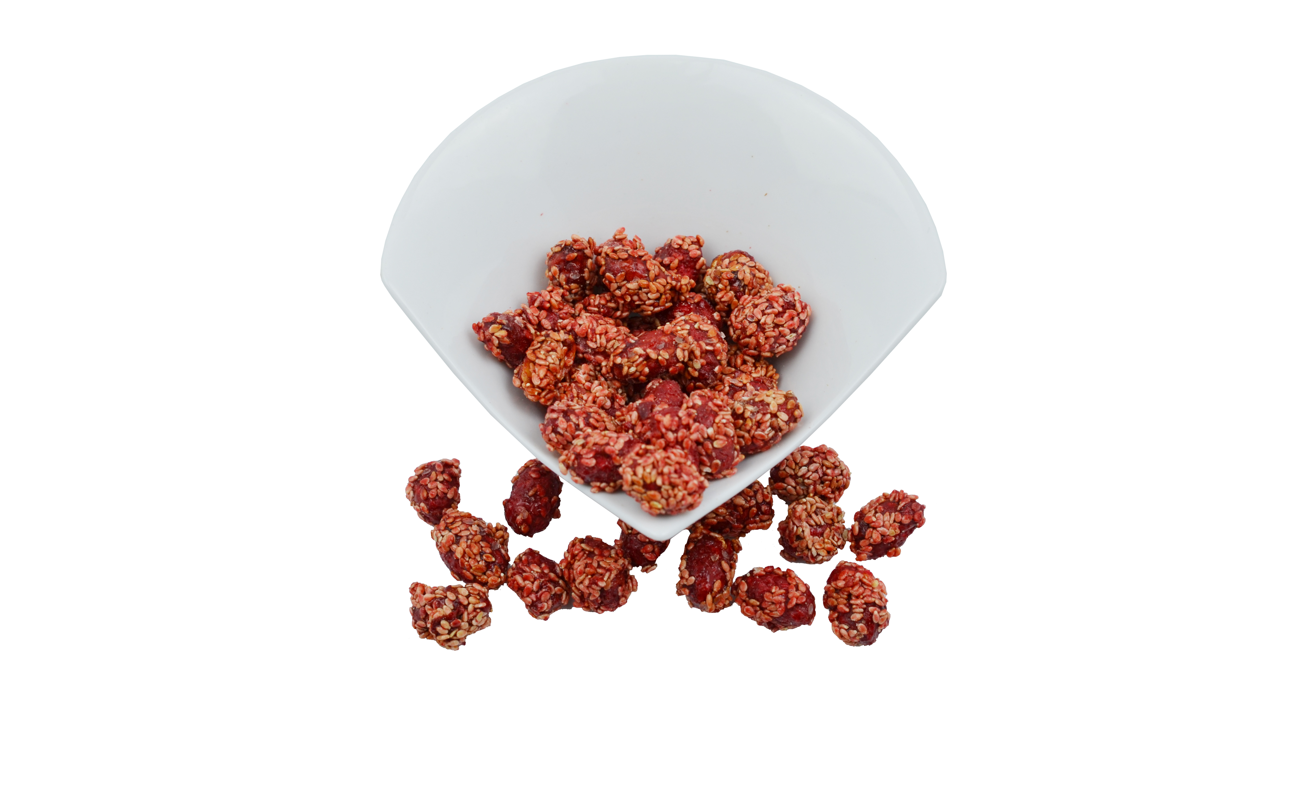 Caramelized Pistachios with Sesame and Cherry